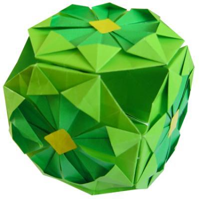boule en origami facile et rapide