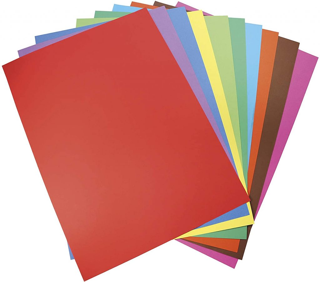 papier carton coloré pour activité