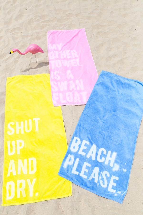 serviette de plage personnalise diy