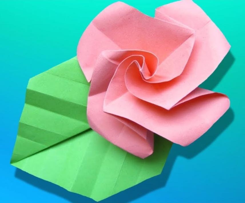 DIY tuto facile origami rose