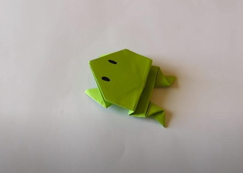 grenouille en orgami facile