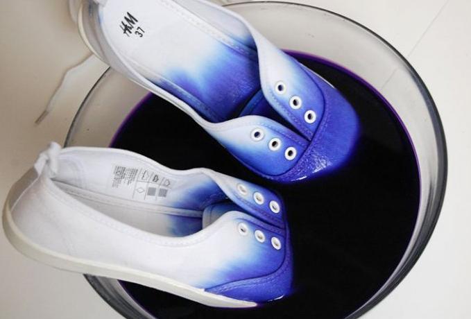 chaussure teinture soi meme