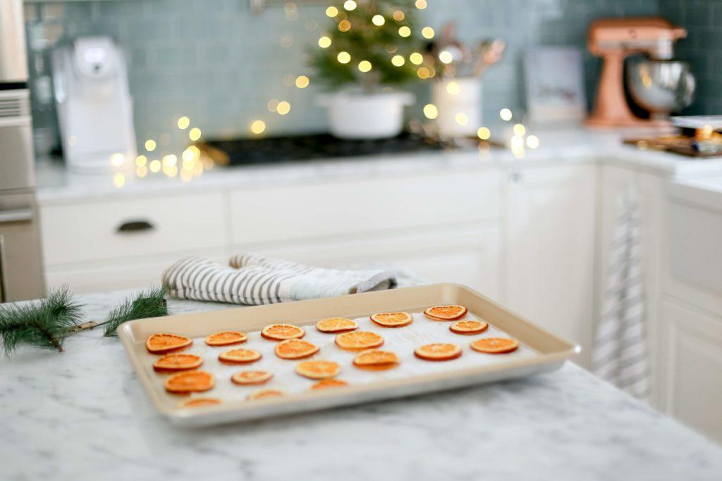 tranche d'orange sechee