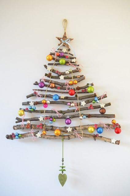 Sapin de Noel en branche à suspendre
